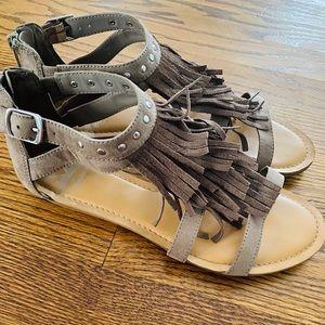 Fergalicious boho style gladiator sandal, size 7.5
